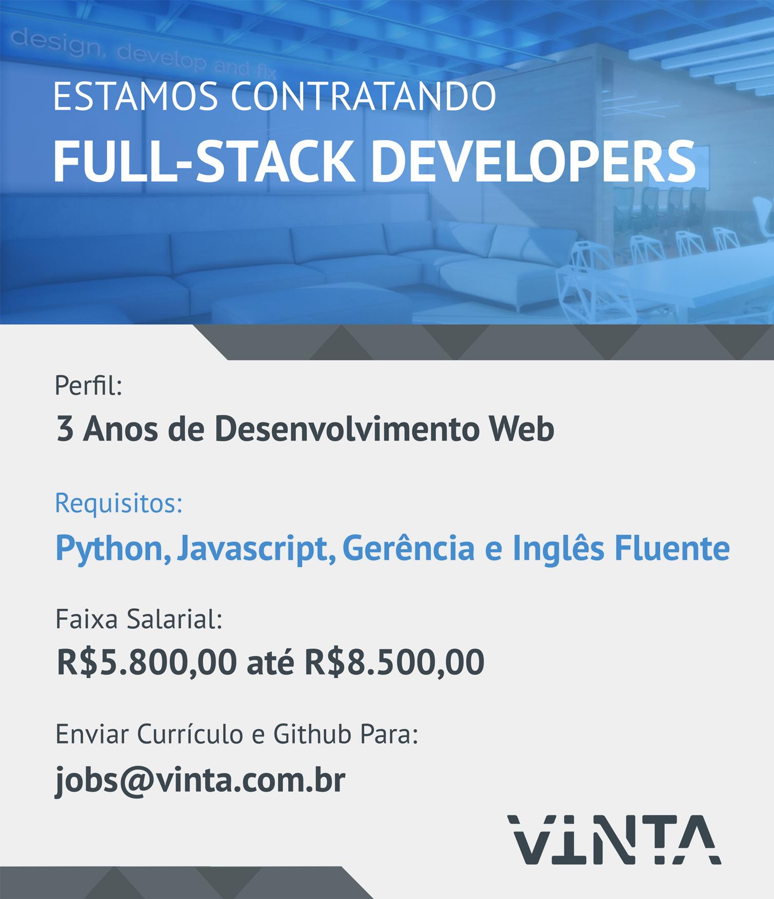 Chamada Full-Stack Developer